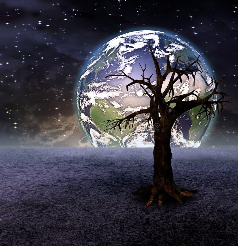 Árvore e terra ilustração royalty free
