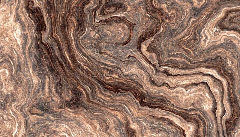 A árvore enraíza o fundo com anéis ondulados ilustração stock