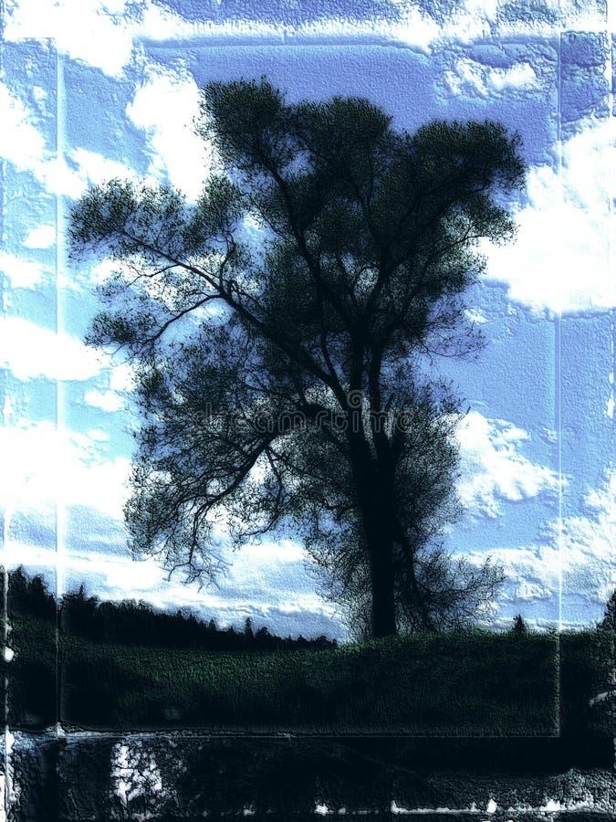 Árvore escura; imagem de stock royalty free