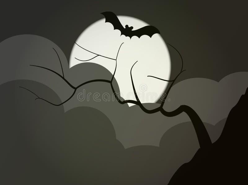 Árvore escura ilustração royalty free