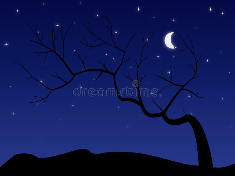 Árvore escura ilustração do vetor