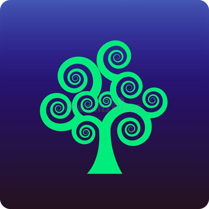 Árvore espiral ilustração royalty free