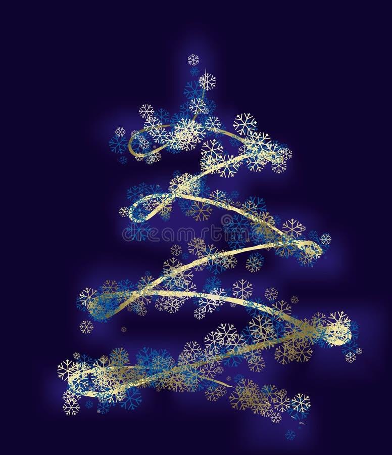 Árvore estilizado do xmas ilustração royalty free