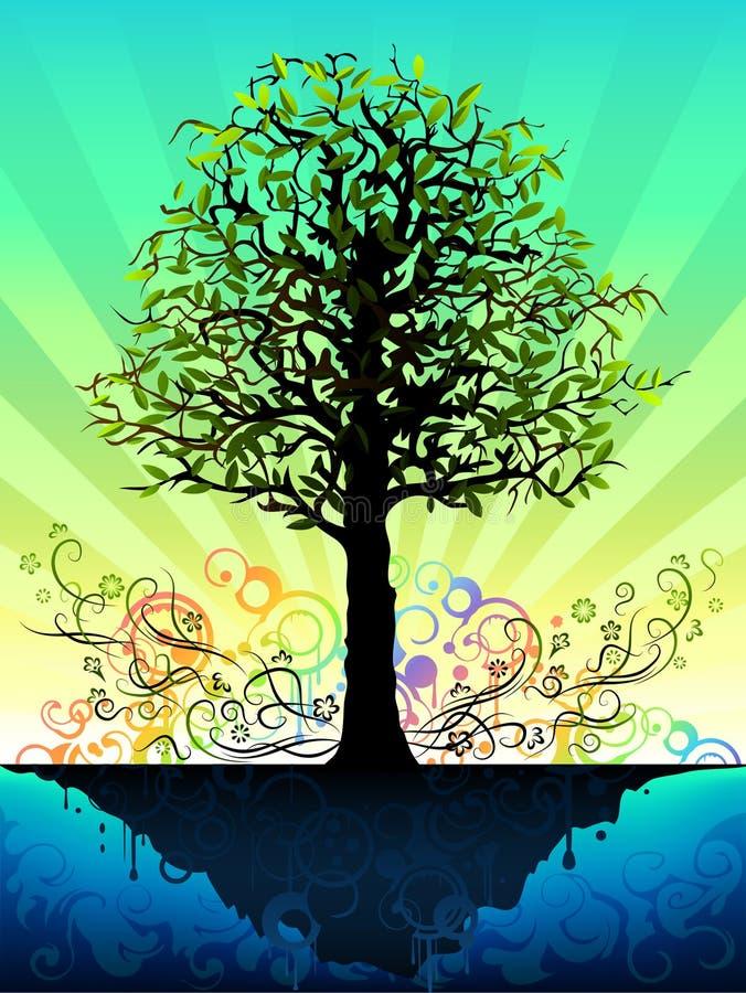 Árvore fantástica ilustração do vetor