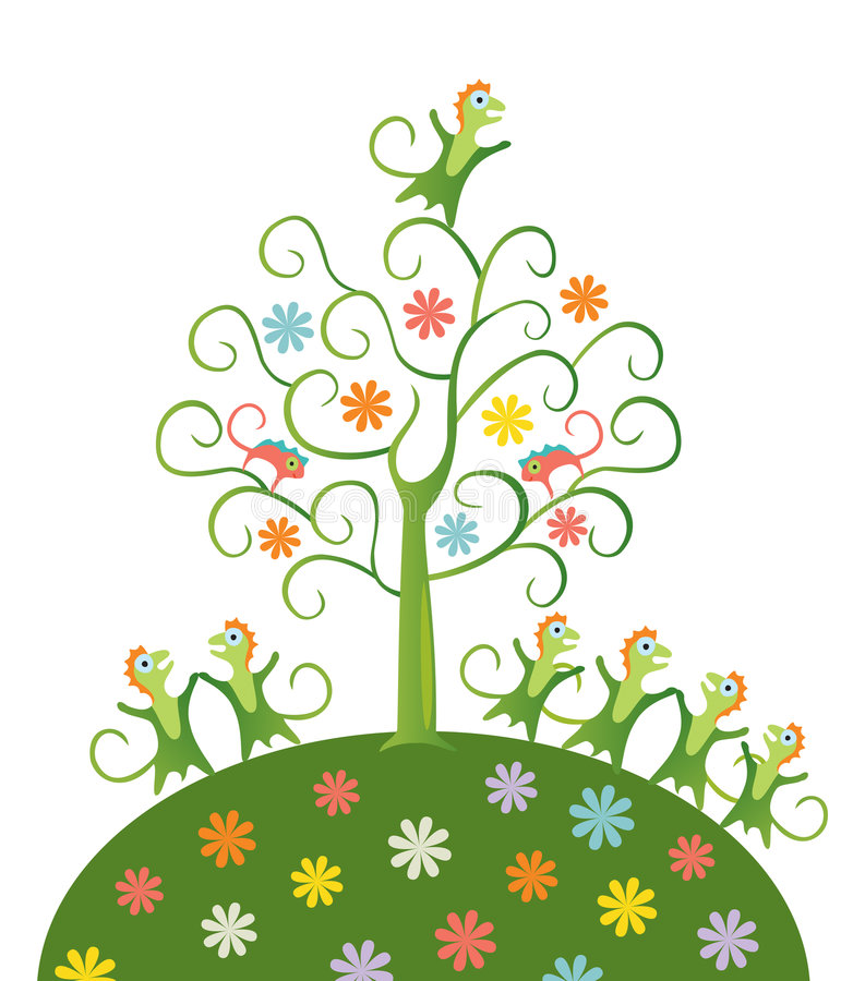 Árvore feericamente. foto de stock royalty free