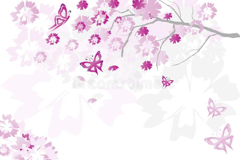 Árvore floral imagem de stock royalty free