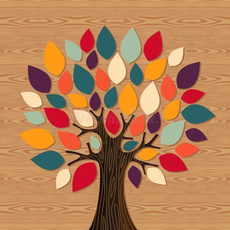 Árvore global da diversidade ilustração stock