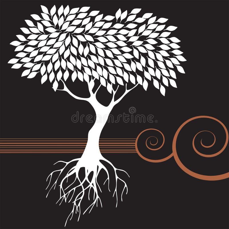 Árvore gráfica retro ilustração royalty free