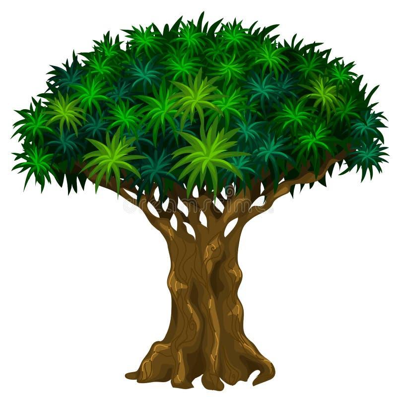 Árvore grande com veias Fases de séries de giro da árvore ilustração do vetor
