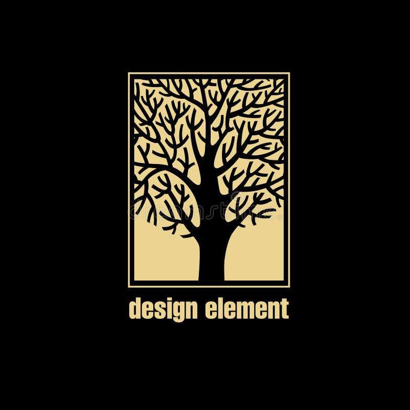 Árvore Grupo liso abstrato do ícone do vetor ilustração do vetor