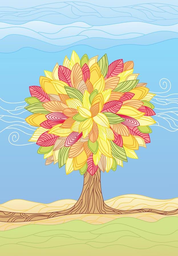 Árvore/ilustrações do outono ilustração stock