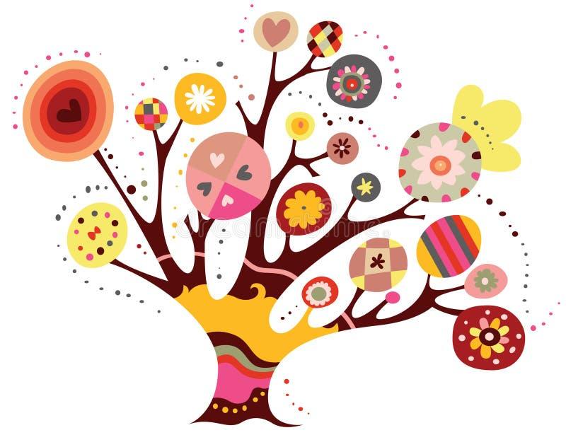 Árvore lunática ilustração stock