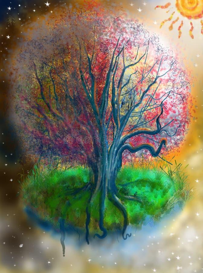 Árvore mágica ilustração do vetor