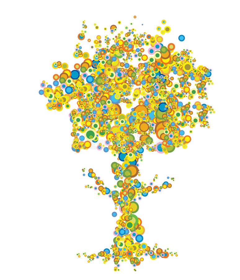 Árvore na cor ilustração stock
