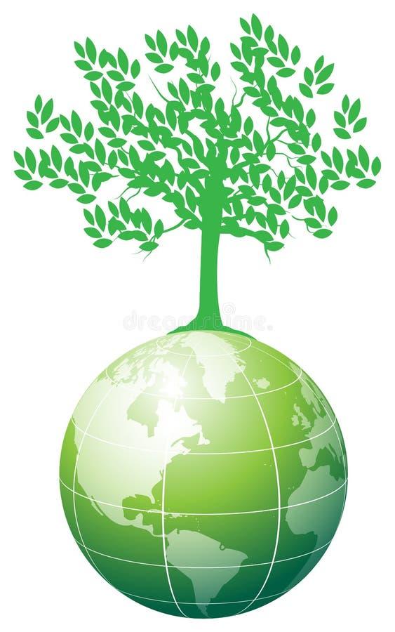 Árvore na terra ilustração royalty free