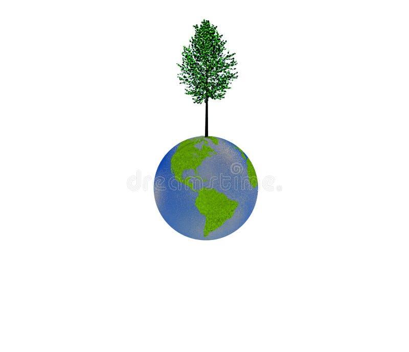 Download Árvore na terra ilustração stock. Ilustração de vida - 16862592