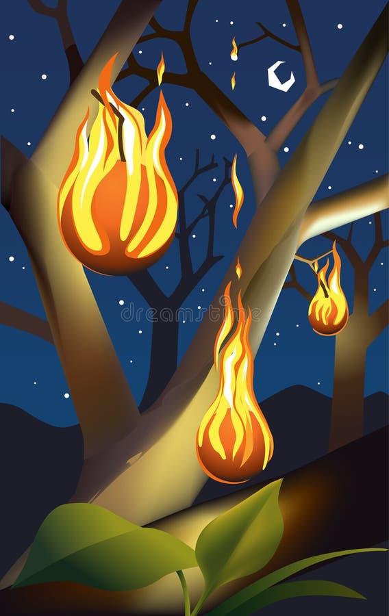 Árvore no incêndio imagens de stock royalty free