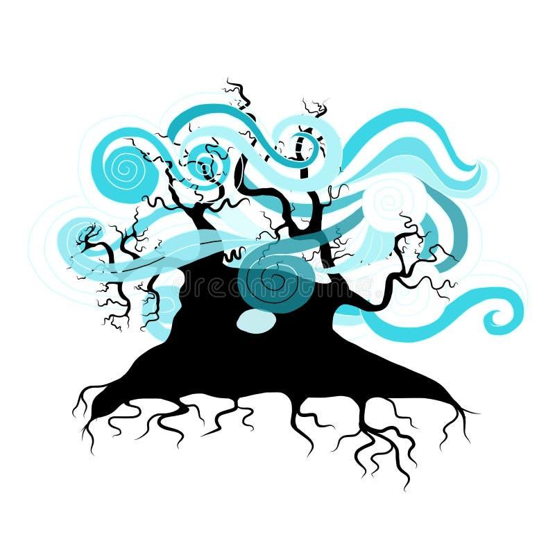 Árvore ondulada abstrata para seu projeto ilustração royalty free