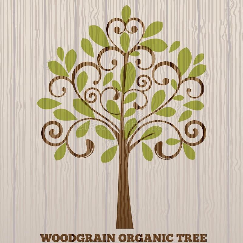 Árvore orgânica do Woodgrain ilustração stock