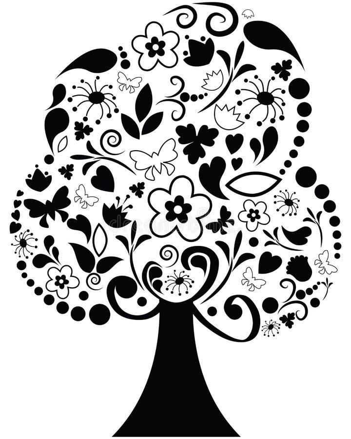 Árvore ornamentado ilustração stock