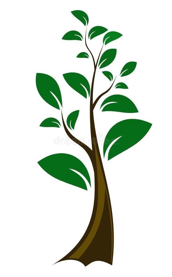 Árvore pequena Editable do vetor ilustração do vetor