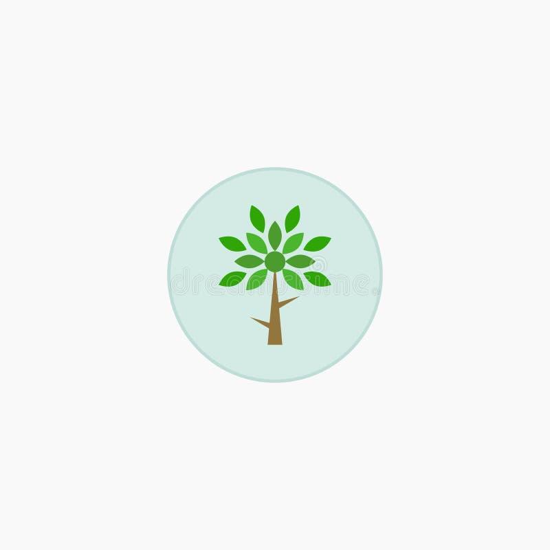 Árvore plantas ícone Ilustração do vetor Eps 10 ilustração do vetor