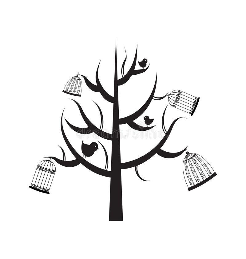 Árvore preta ilustração royalty free