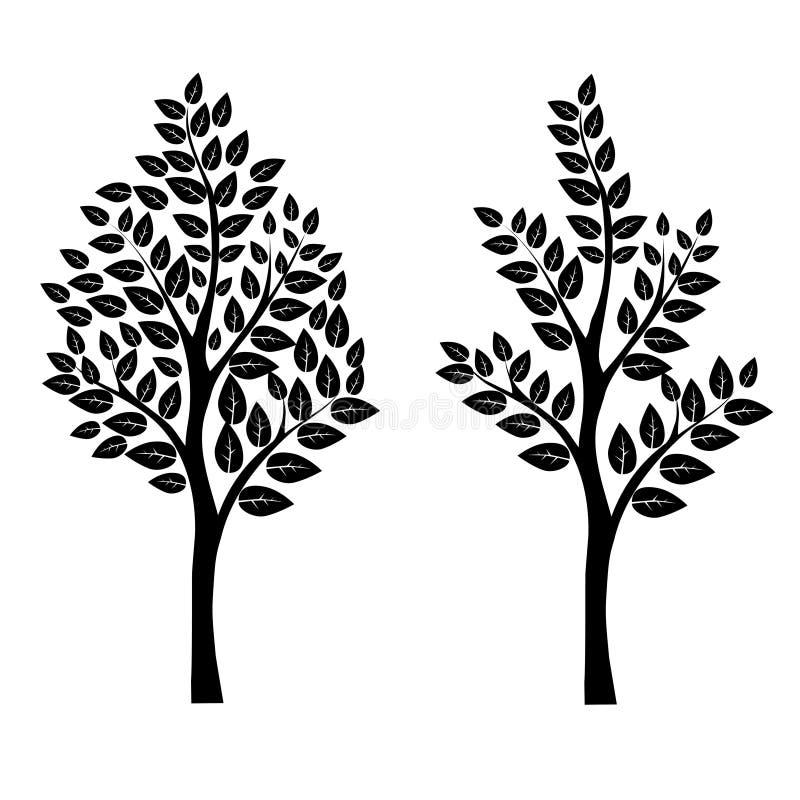 Árvore preta ilustração do vetor