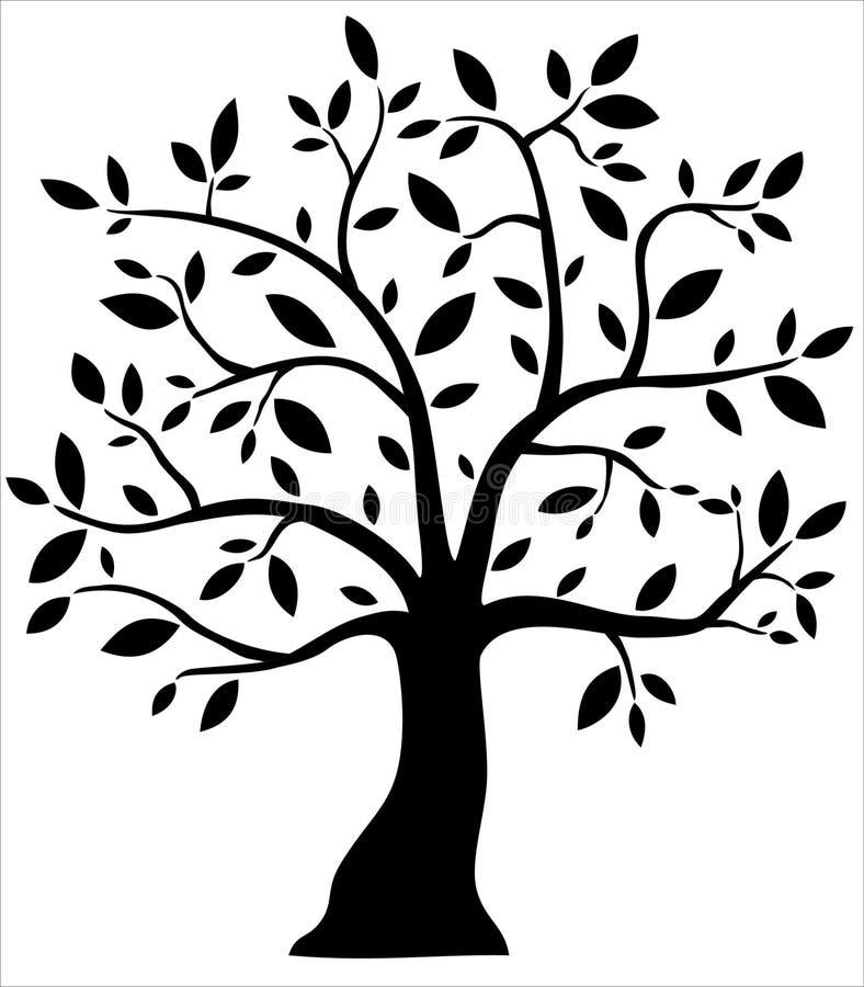Árvore preta decorativa ilustração do vetor
