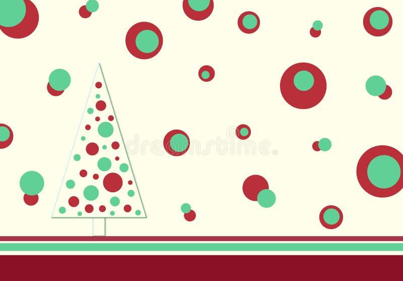 Árvore retro do Natal ilustração do vetor