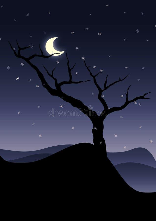 A árvore só ilustração stock