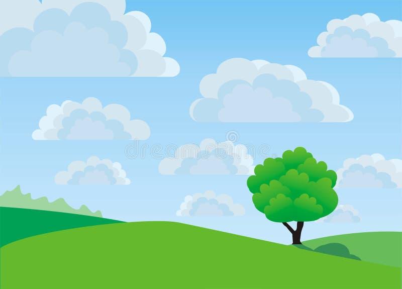 Árvore só, vetor ilustração royalty free