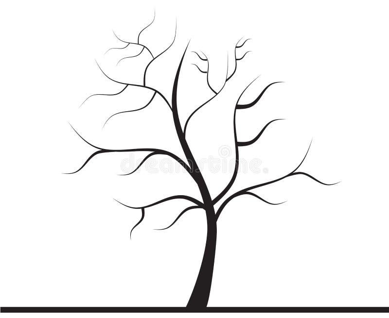 Árvore sem folhas ilustração royalty free