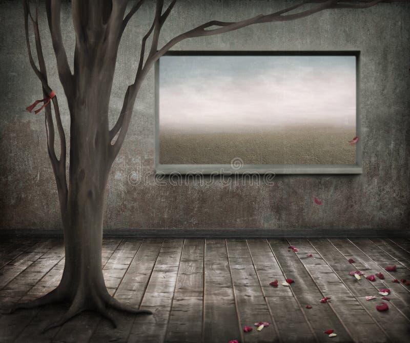 Árvore sozinha ilustração stock