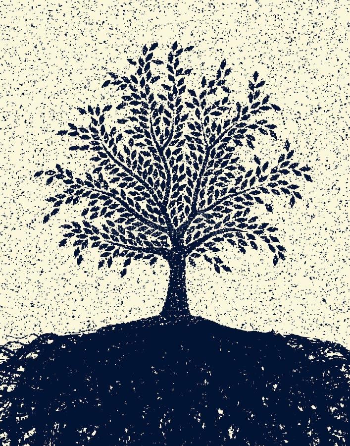 Árvore Textured ilustração stock