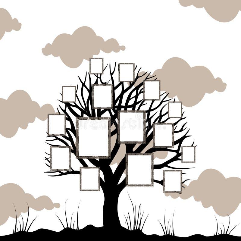 Árvore uma estrutura ilustração royalty free