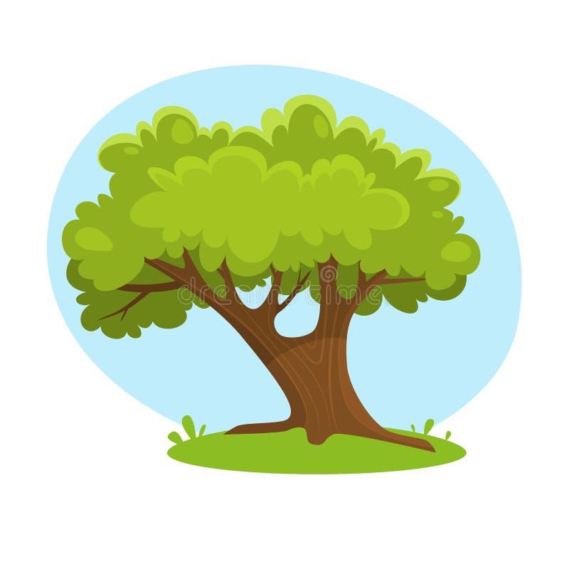 Árvore velha grande ilustração stock