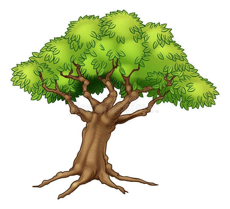 Árvore velha grande ilustração royalty free