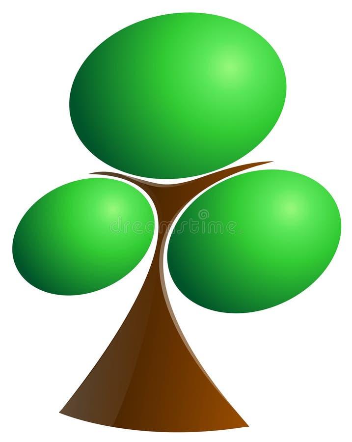 Árvore verde   ilustração do vetor