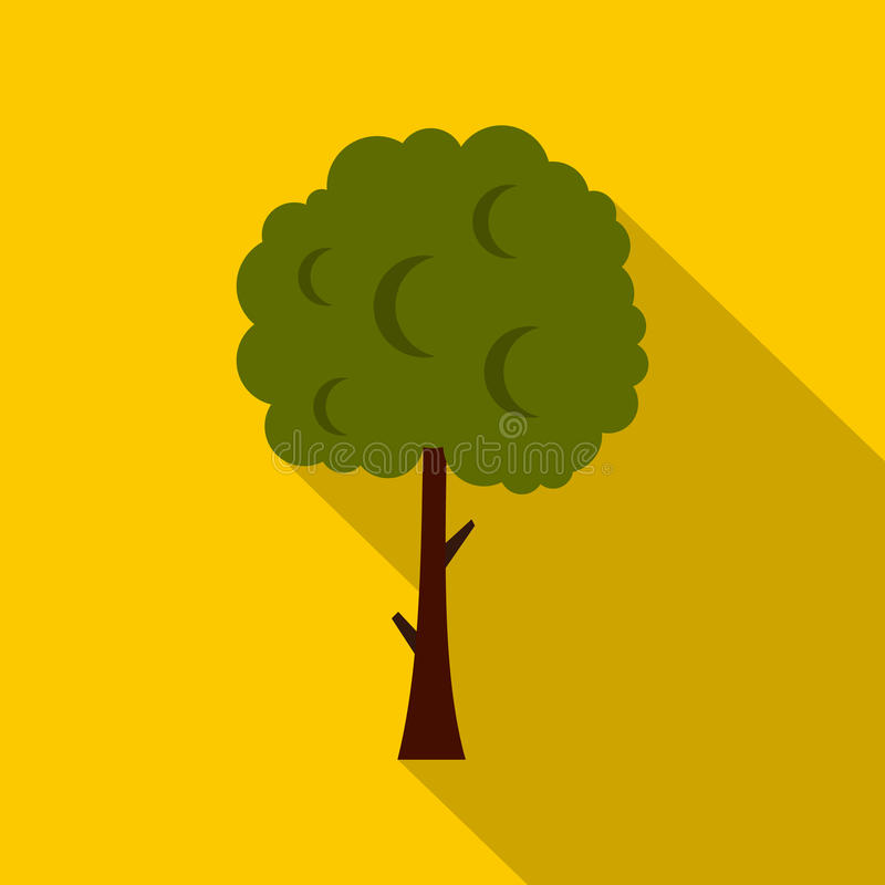 Árvore verde com ícone esférico da coroa da coroa ilustração do vetor