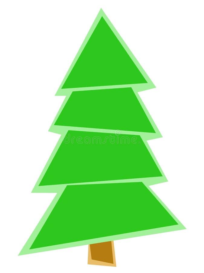 Árvore verde geométrica imagem de stock