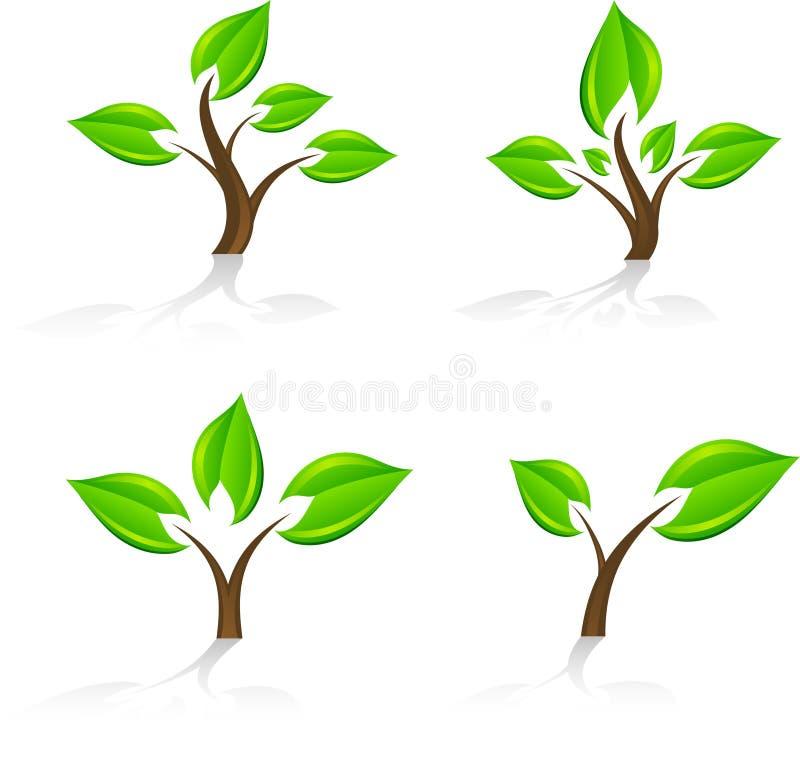 Árvores. ilustração stock