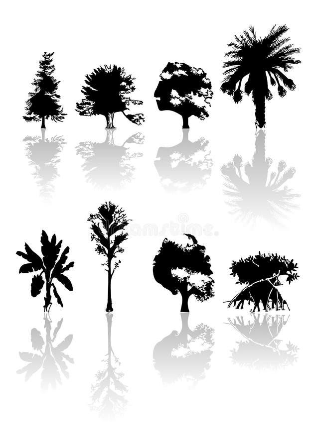 Árvores ilustração do vetor