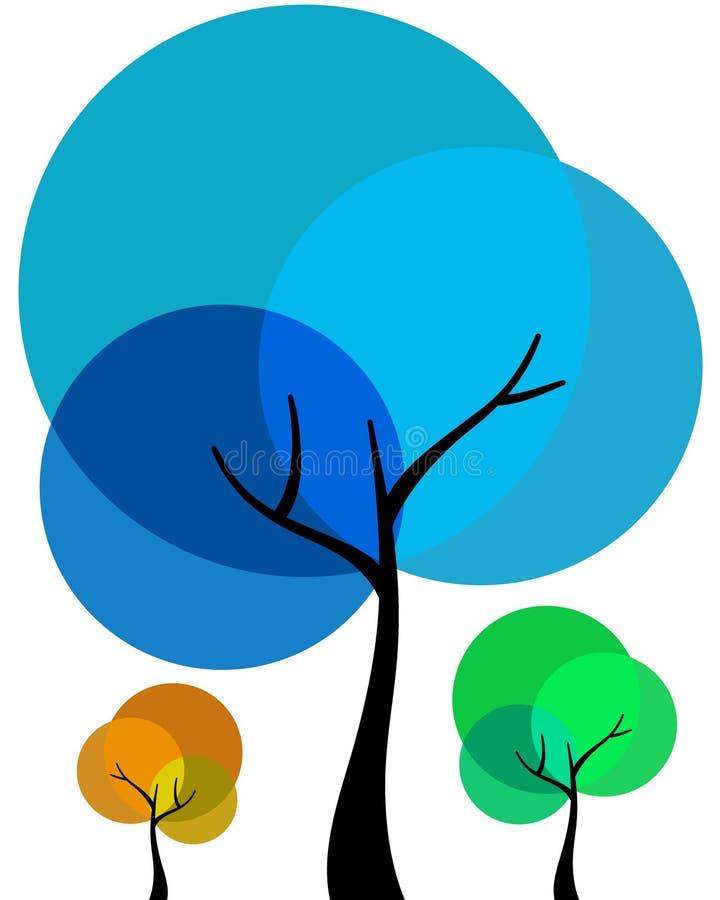 Árvores abstratas ilustração stock