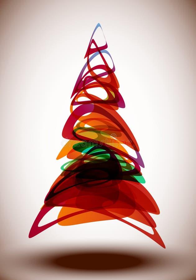 Árvores abstratas ilustração do vetor
