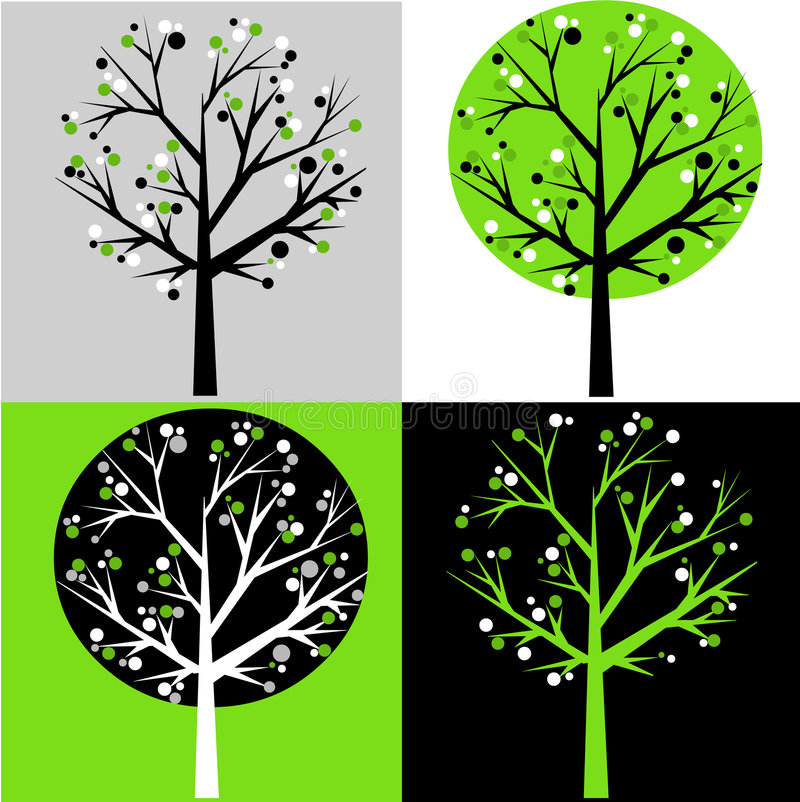 Árvores abstratas ilustração royalty free