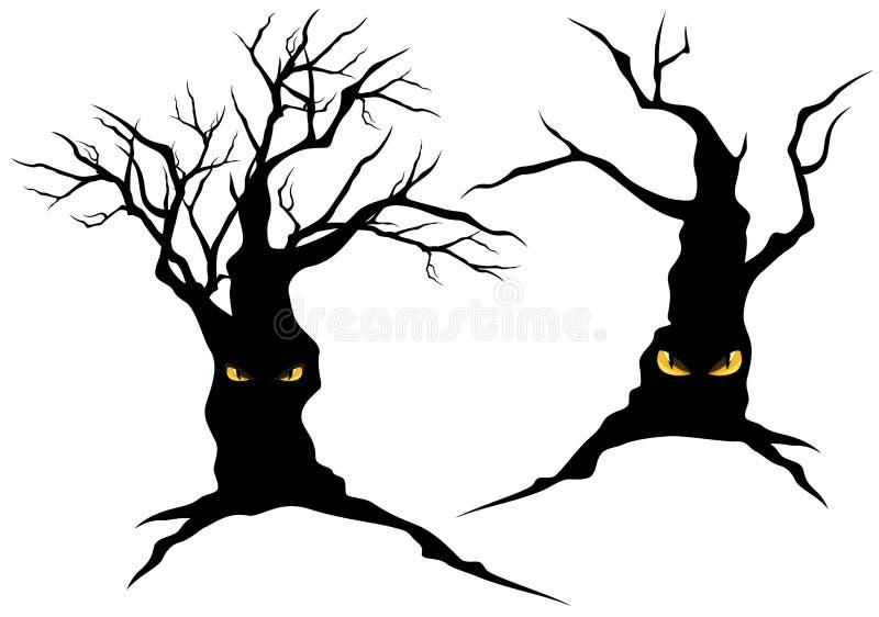 Árvores assustadores do monstro ilustração royalty free