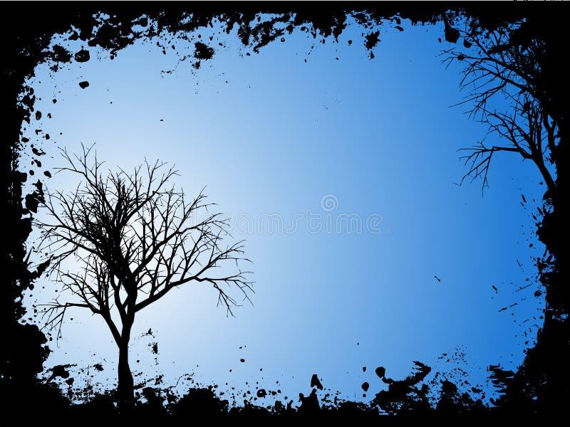Árvores de Grunge ilustração royalty free
