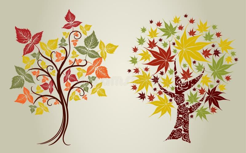 Árvores de Grunge das folhas