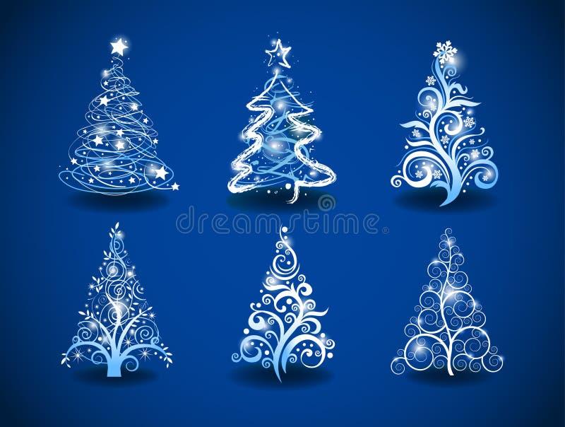 Árvores de Natal. ilustração royalty free